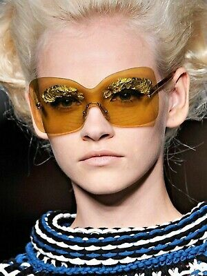 Designer Fendi Runway Shield Over Size Sunglass