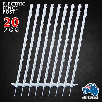 20pcs IN POSTS STRIP GRAZE PIG TAIL TREAD ELECTRIC FENCE PIGTAIL STEEL  AU POST