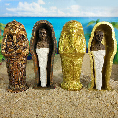 Miniature Egyptian King Mummification Small Statue Resin Collectible Figurines