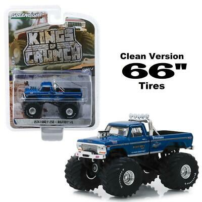 "Greenlight 49040 A 1974 Ford F-250 Bigfoot 66"" Tires Diecast Monster Truck 1:64"