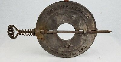 8 Inch Cast Iron Stove Pipe Damper with Spindle Reversible Stover MFG. & ENG. Co