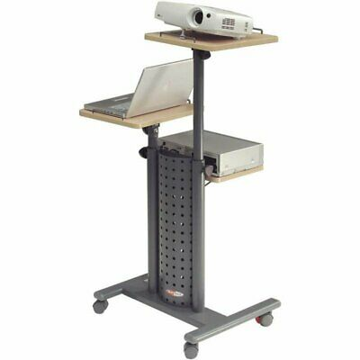 Metroplan Deluxe MM Trolley Portable Device Management Cart Black - 215715DL