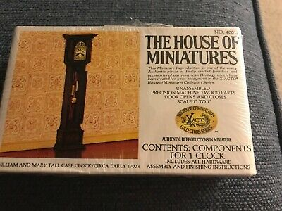 New The House of Miniatures William & Mary Tall Case Clock Kit 40018