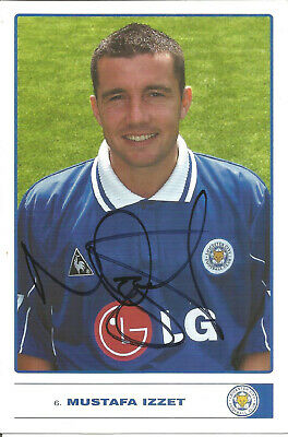 Football Autograph Mustafa Izzet Leicester City Signed Photo Player Card F1509