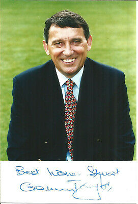 Football Autograph Graham Taylor England Manager Signed Photograph Card F1513