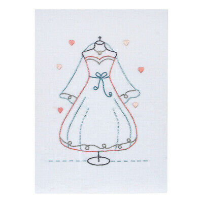 ANCHOR | Embroidery Kit: Wedding Dress - Gift Card  | RDK48