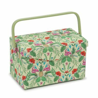 Tropical Lime Fold Over Lid Sewing Box | 16.5 x 29 x 18cm | HobbyGift HGFB-457