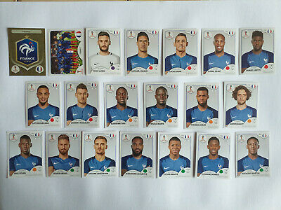 Panini Wc Coupe Du Monde Russia 2018 26 Stickers Equipe Complete France Set Team