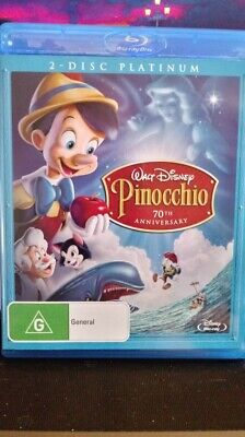 Pinocchio 1940  Platinum 2 DISC  Edition BLU-RAY  REGION FREE NEW/UNSEALED