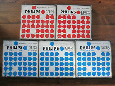 lot of 3 PHILIPS LP18 reel to reel tapes 18cm 7 inch JEWEL CASES