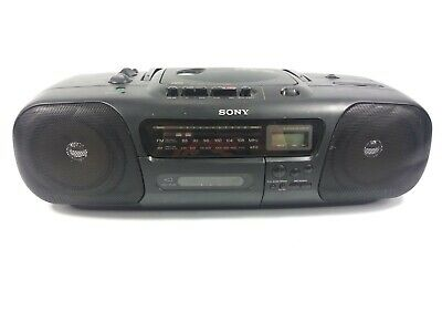 Sony CFD-10 Boombox Portable Stereo AM FM Radio CD Cassette Player M12M2.45