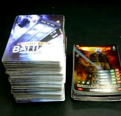 Dr Who Battles In Time Cards Bundle 210+ Cards and 34 Foil Cards