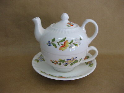 Aynsley Cottage Garden Tea For One ~ Teapot, Cup & Saucer ~ Excellent Condition