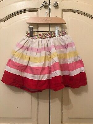 Jools Oliver Little Bird Skirt White Pink Red Yellow Floral 2-3 Mothercare
