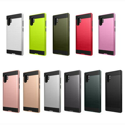 Brushed Shockproof Hyrbid Case Cover For Samsung Galaxy Note 10 Plus S10 S9 S8+