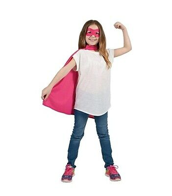 """New Girls Deluxe Satin 22"""" Cape Fancy Dress Super Hero Capes"""