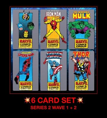 6X Topps Collect Digital Trader CORNER BOX FULL SET series 2 Wave 1 + 2 card LOT