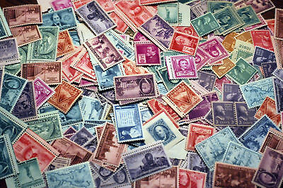 OLD USA Postage Stamp Lots 50 to 120 YEAR OLD MNH Vintage Stamps - FREE SHIPPING