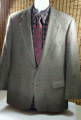 Brooks Brothers Camel Hair Sportscoat Jacket Blazer Houndstooth 2 Button Men 40R