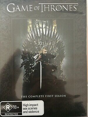 GAME OF THRONES - Season 1 5 x DVD Set AS NEW! Complete First Series One