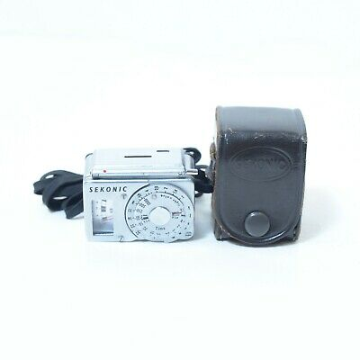 Sekonic LC-2 Hot Shoe Small Exposure Light Meter w/ Leather Case Made in Japan