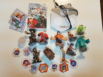 Disney Infinity 1.0 LOT Figures, Power Disc, & Base Wii Incredibles monster inc.