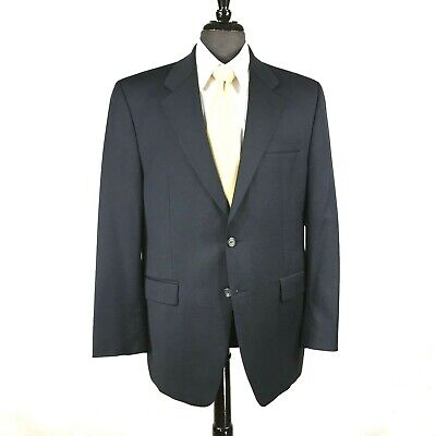 Lauren Ralph Lauren mens navy blue wool blazer jacket 40R to 42R