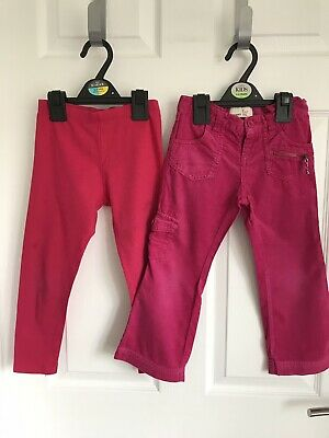 Girls 2 X Pink Old Navy/F&F Leggings/Trousers- Age 4yrs