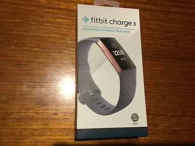Fitbit charge 3 blue grey classic band rose gold