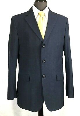 Banana Republic mens gray lightweight cotton pin stripe suit  40L to 42L