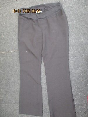 """Ladies """"New Look Maternity"""" under the Bump Black Casual Trousers (Size 12)"""