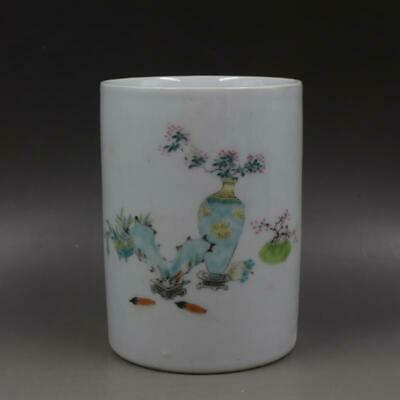 Chinese ancient antique hand make Pen container Porcelain Decoration a199