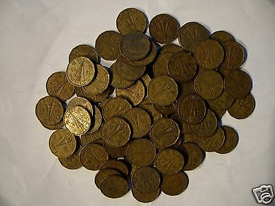 Canada 1943 Tombac Victory 5 Cent Each Bid Is For 1 Coin From This Lot