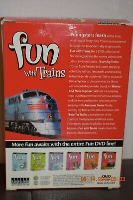Fun With Trains 4 DVD Value Pack New & Factory Sealed!