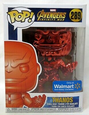 Funko Pop Marvel Avengers Endgame #415 Thanos Red Chrome Walmart Vinyl Figure