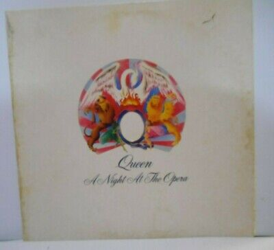 Queen A Night At The Opera 1975 US 1st Ed Embossed Album Gate Fold Sleeve VG+