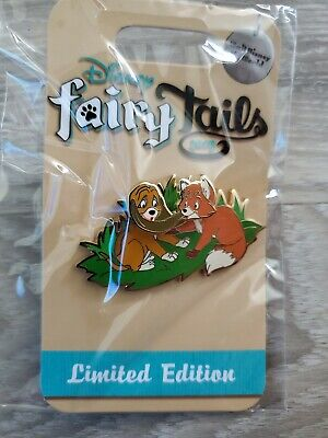 Disney World Fairy Tails Fox & The Hound Todd and Copper Pin LE 750