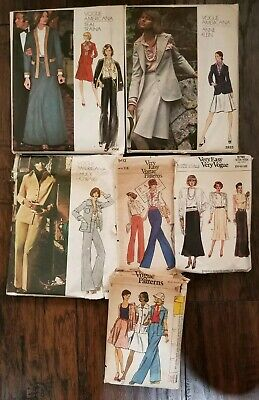LOT over 75  VINTAGE 70's-80's  Sewing Patterns Vogue Simplicity McCall's + MORE