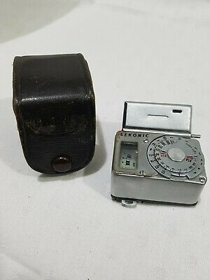 Sekonic Hot Shoe Small Exposure Light Meter In Original Leather Case (3)