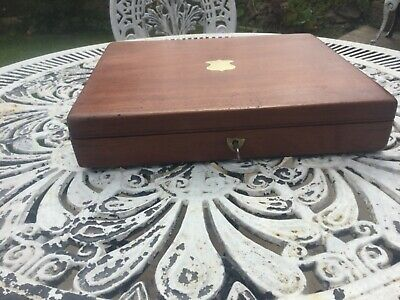 Antique Solid Mahogany Document/Jewellery Silm Box - Fab Interior