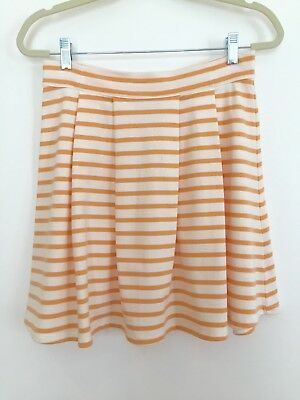 PETIT BATEAU Designer Striped Summer A-Line Skirt s.XS New, LAIT COBBLER