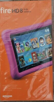 Amazon Fire HD 8 Kids Edition (8th Generation) 32 GB, Wi-Fi, 8 in - Pink New!
