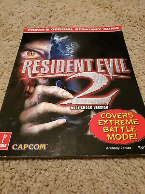 Resident Evil 2 Prima's Official Strategy Guide MINT COMPLETE