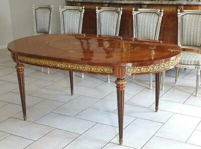 Antique Vintage French Two leaf extension Dining table 8-16 seats Walnut France