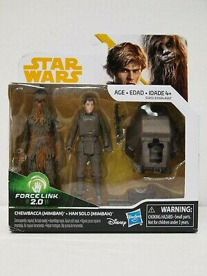 Star Wars Solo Movie - Mimban Chewbacca & Han Solo - Force Link 2.0 2-pack