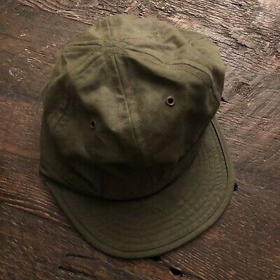 Circle A Brand OD Green Army Cap Made In USA 7 3/8-7 1/2