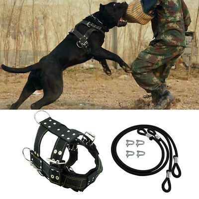 Dog Weight Pulling Harness Large Dogs Training Nylon Harness for German Shepherd