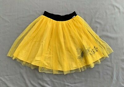 JUNIOR GAULTIER GIRLS YELLOW EMBROIDERED FISH TULLE SKIRT 10 11 12 yrs SZ 10a