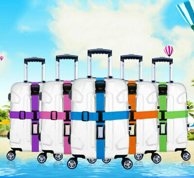 Travel Luggage Suitcase Password Secure Lock Safe Nylon Packing Belt Strap AU