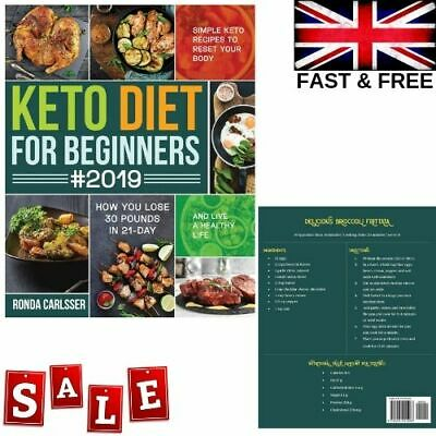 KETO DIET COOKBOOK For Beginners Simple Ketogenic Diet Recipes Paperback Book